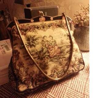 歐洲古董手挽袋