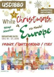 10D9N WHITE CHRISTMAS IN EUROPE (3 COUNTRIES) FRANCE - SWITZERLAND - ITALY