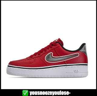 innovative design 2b81b 5d37a  PREORDER  NIKE X NBA AIR FORCE 1 LOW LO RED   CHICAGO BULLS