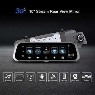 A920 10 inch 3G WiFi Android Car Rear View DVR Camera GPS Dash Cam
