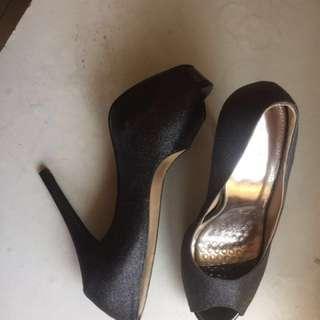 Black Peep Toes Heels #MY1212