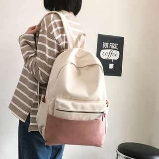 ✨CHIC✨ Propter Pastel Series Bi-Tone Backpack Bag