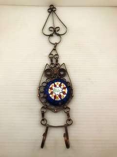Handmade copper key holder / hook rack