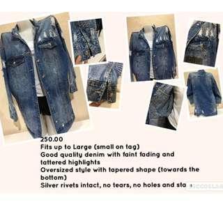 Ladies Oversized Denim Jacket