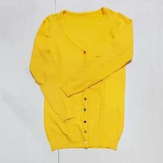 Cardigan kuning, dewasa...fit to L