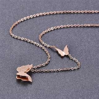 Betsy butterfly stainless steel necklace