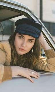 brixton black albany cap / conductor hat / fisherman's cap