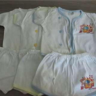 0-3mths Boy's shirts and shorts (3pcs)