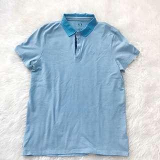 Armani Exchange Polo Shirt Baby Blue