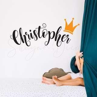 Custom Name with Crown
