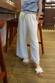 麻質闊褲 brand new made in Korea wide leg long pants size s
