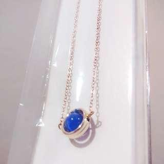 🆕 Rose gold sapphire necklace #H&M50