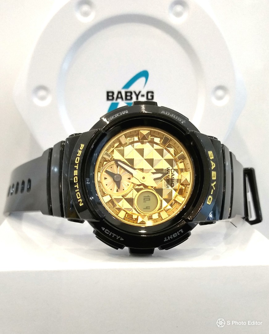62851423a1a7 FREE DELIVERY * Brand New 100% Authentic Casio BabyG Black Gold ...
