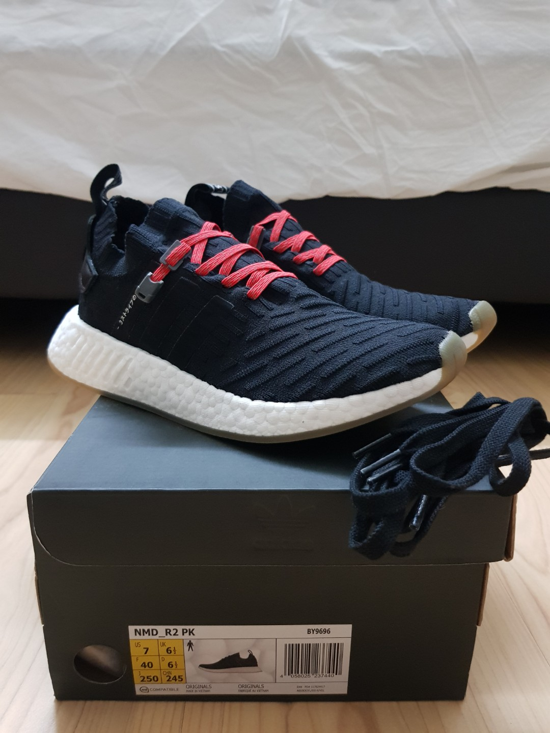 6095f14ac Adidas Nmd R2 Pk An Black With Xpand Laces Men S Fashion