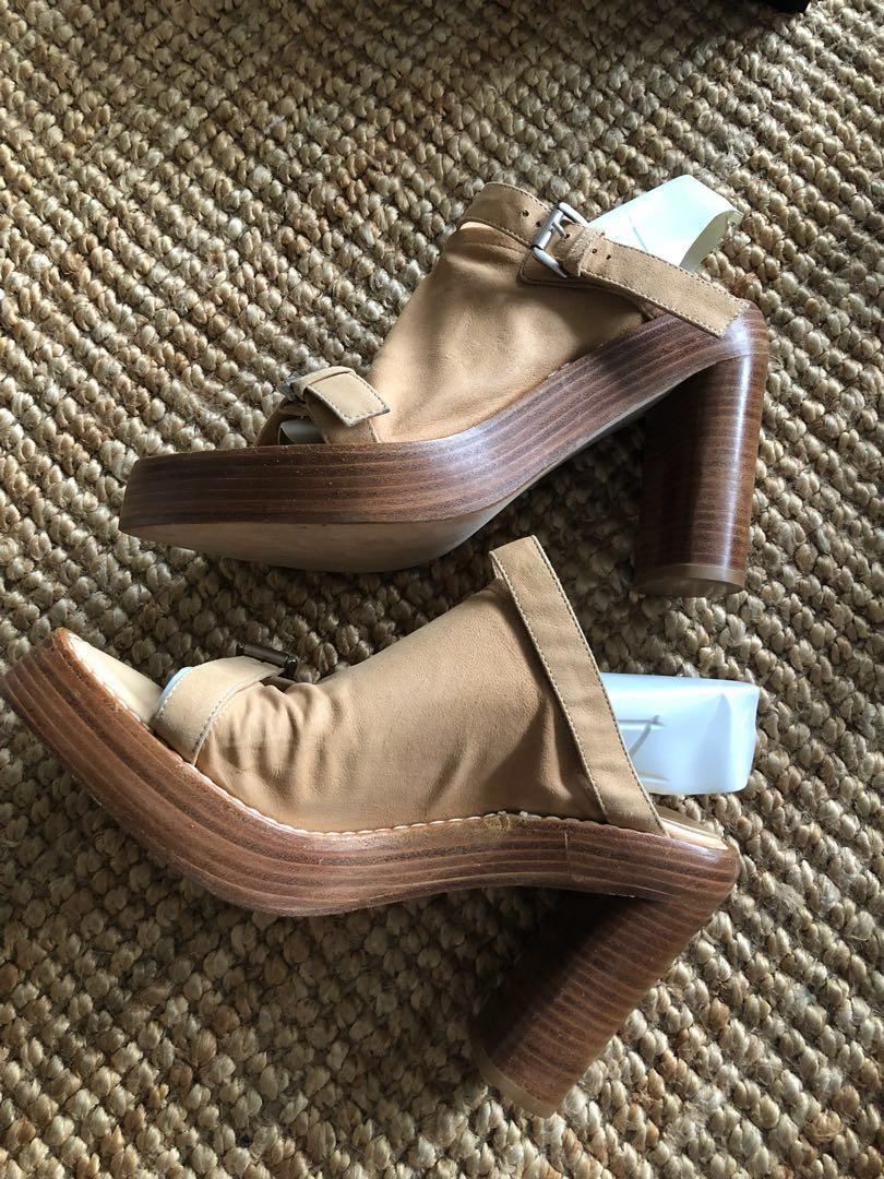 Ann demeulemeester suede glow sandals, size 39,Aus 8.5