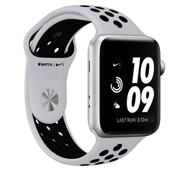 9706abe17ff0b Apple Watch Series 3 Nike+ GPS 38mm Silver Aluminium Case with Pure ...
