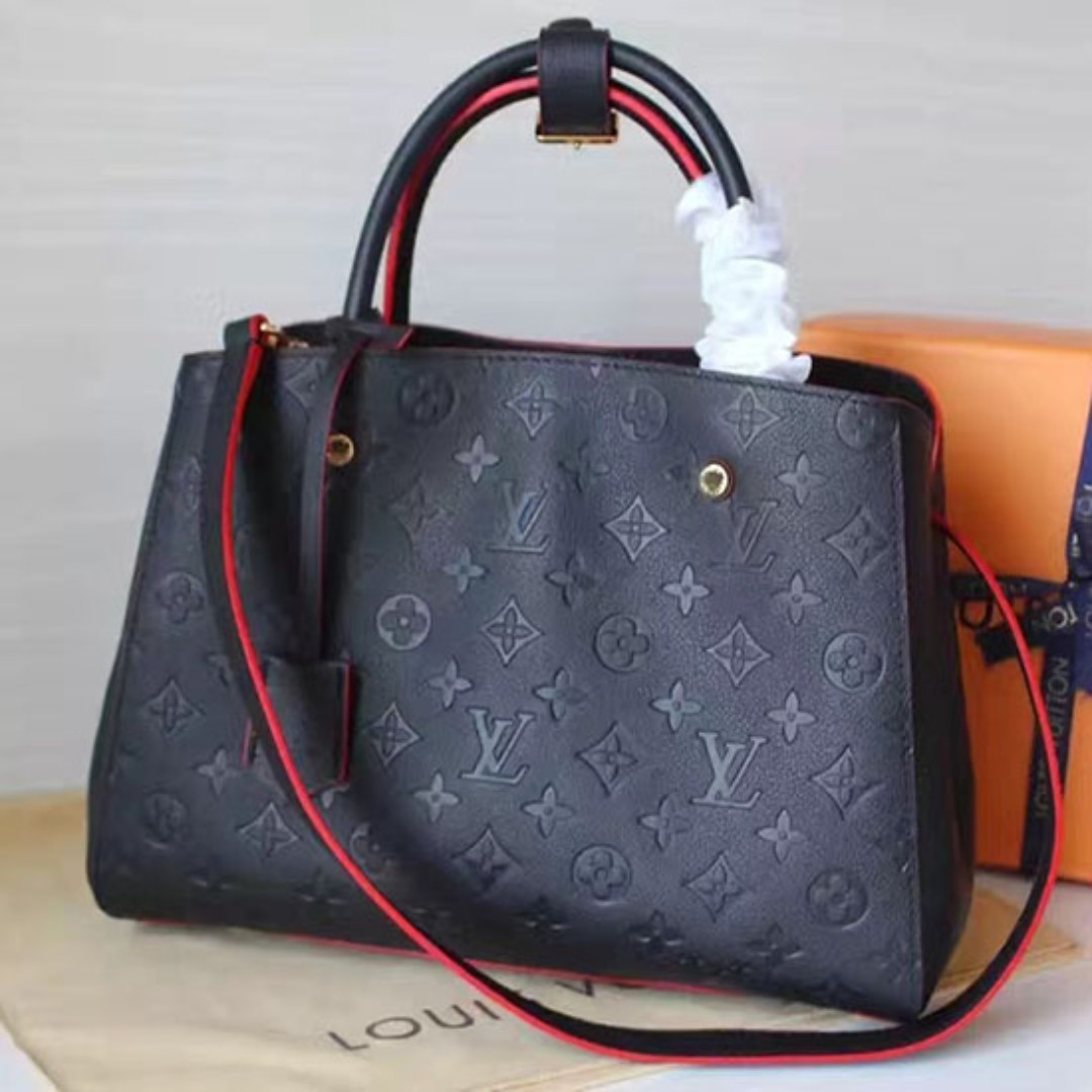 0e35dda384 Authentic genuine Louis Vuitton Monogram Empreinte Montaigne MM ...