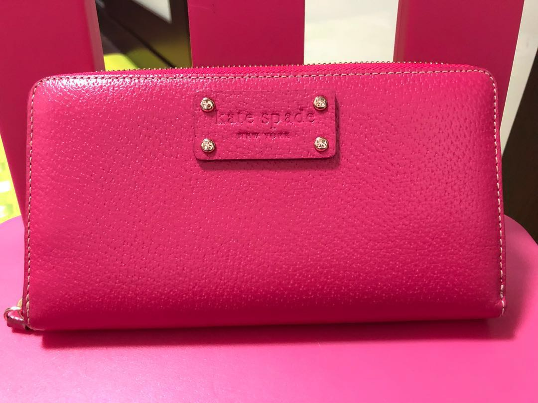 Authentic Kate Spade Pink Wallet Womens Fashion Bags Wallets On Carousell
