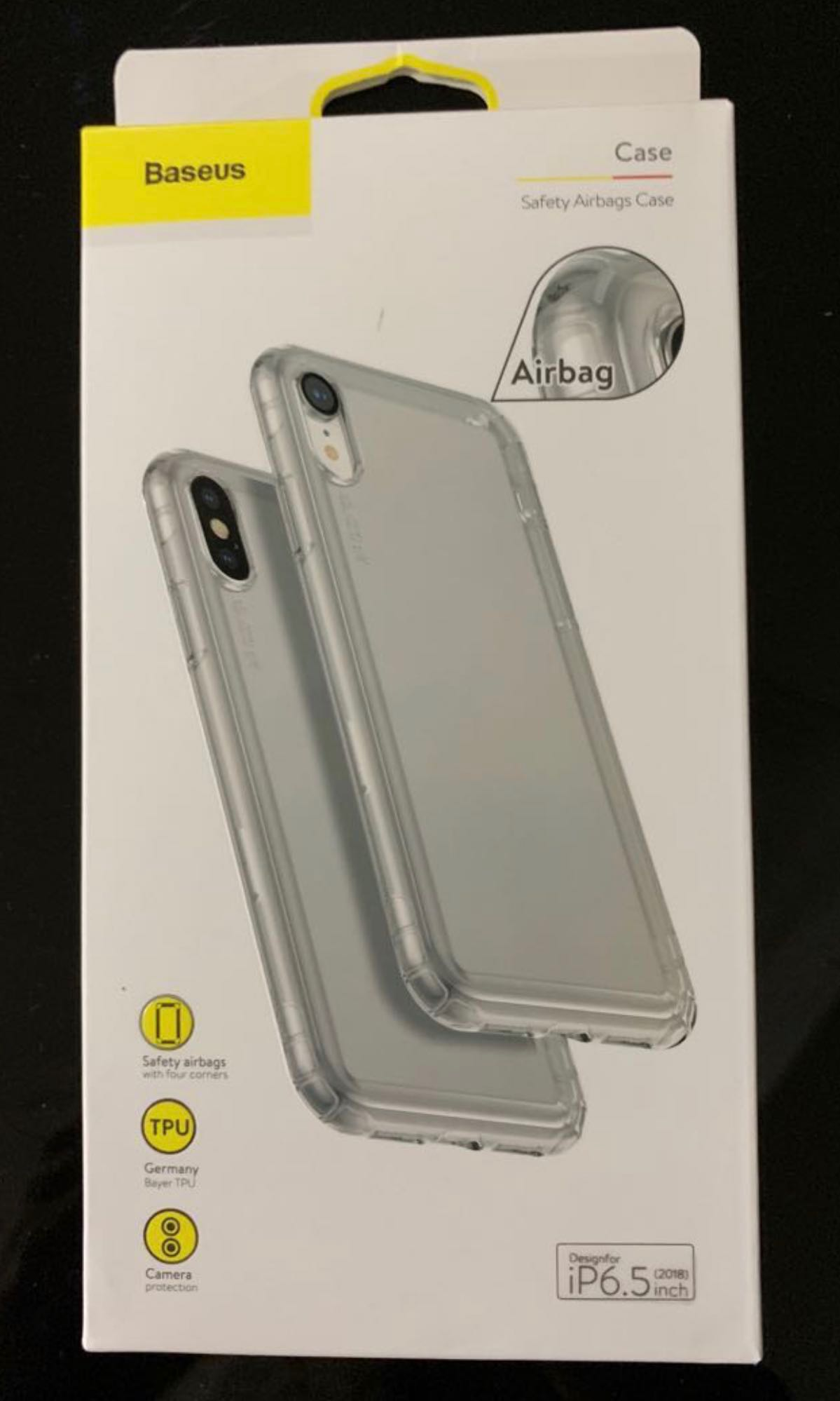 best service c37aa 13d17 Baseus Airbag case for IPhone XS Max (Transparent)