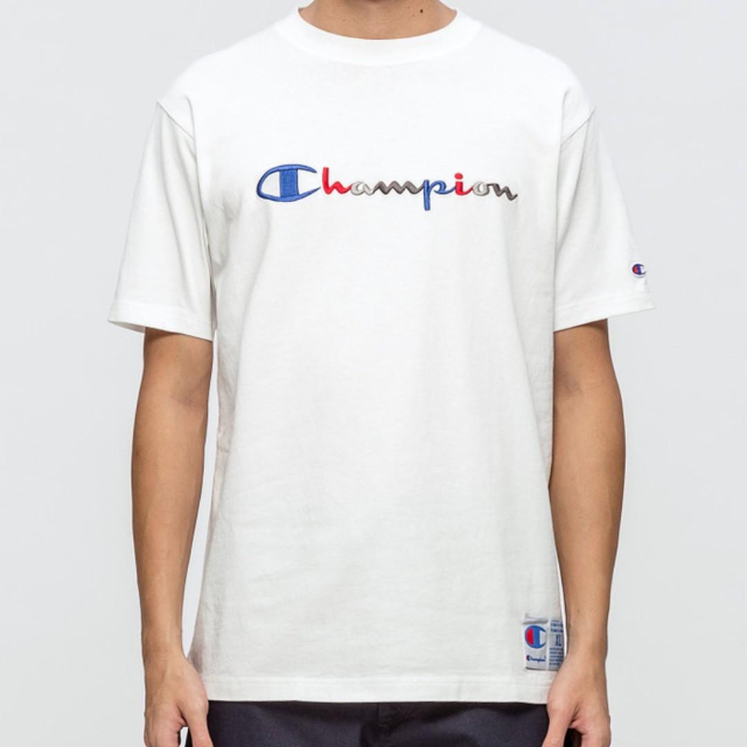 07c7a429 Champion Japan Tri-color Script Embroidery S/S T-Shirt, Men's ...