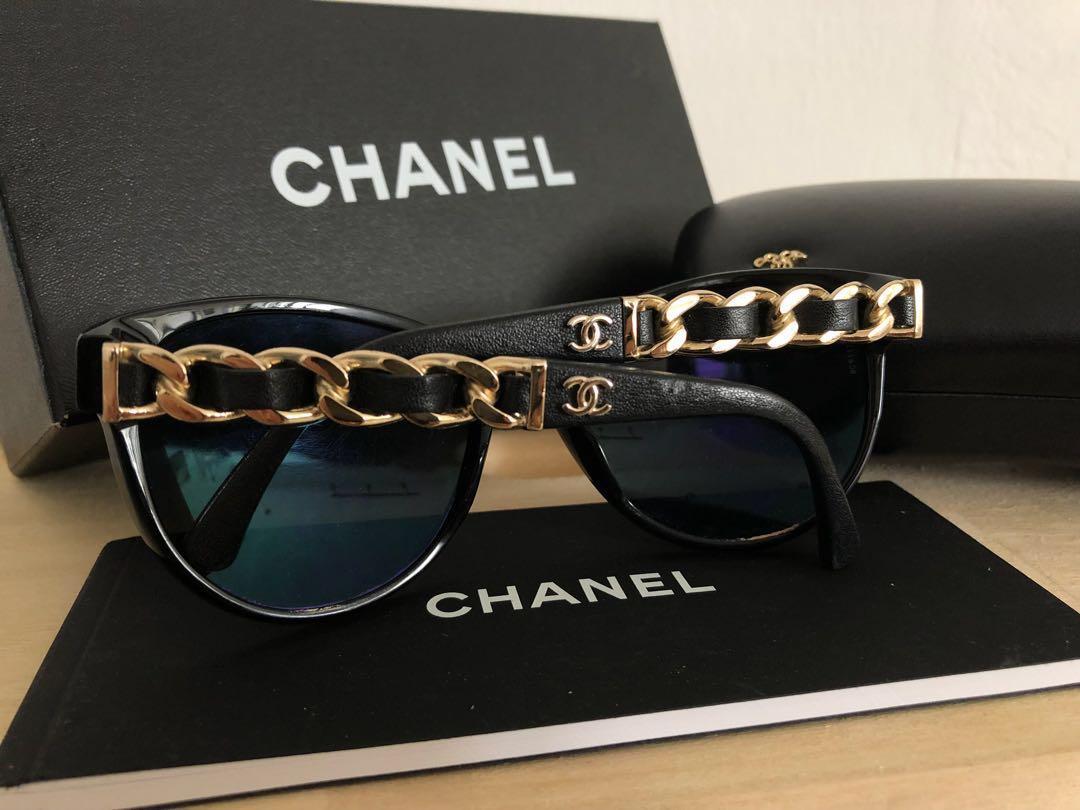 76cc6078fd Chanel Authentic Sunglasses (Chanel chain design)