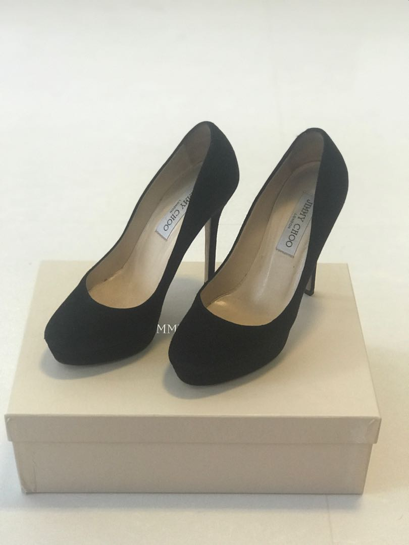 a0369b927db1 Classic Jimmy Choo black suede heels