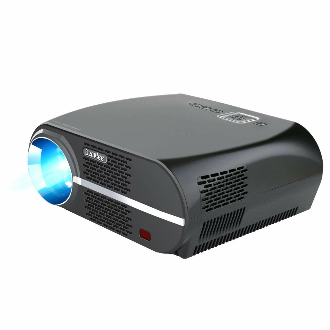 DeepLee GP100 3500 Lumens Movie LED Projector 720P for Phone/Laptop/USB  Flash Drive/Dongle/Game Console with HDMI USB AV VGA AUX, Works with