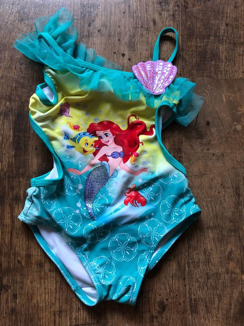 217d25c270169 Disney store Ariel swimsuit, Babies & Kids, Girls' Apparel, 4 to 7 ...