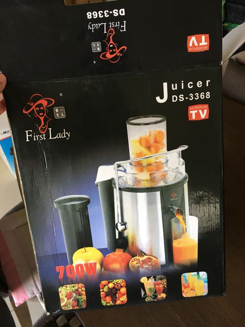 First Lady Juicer Ds 3368 Kitchen Appliances On Carousell Philips Extractor Hr1811