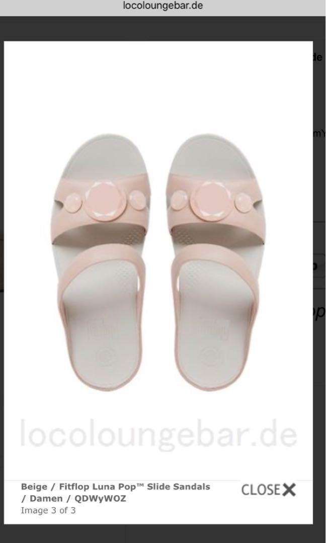 2ea73d11f Fitflop Luna Pop slides Nude