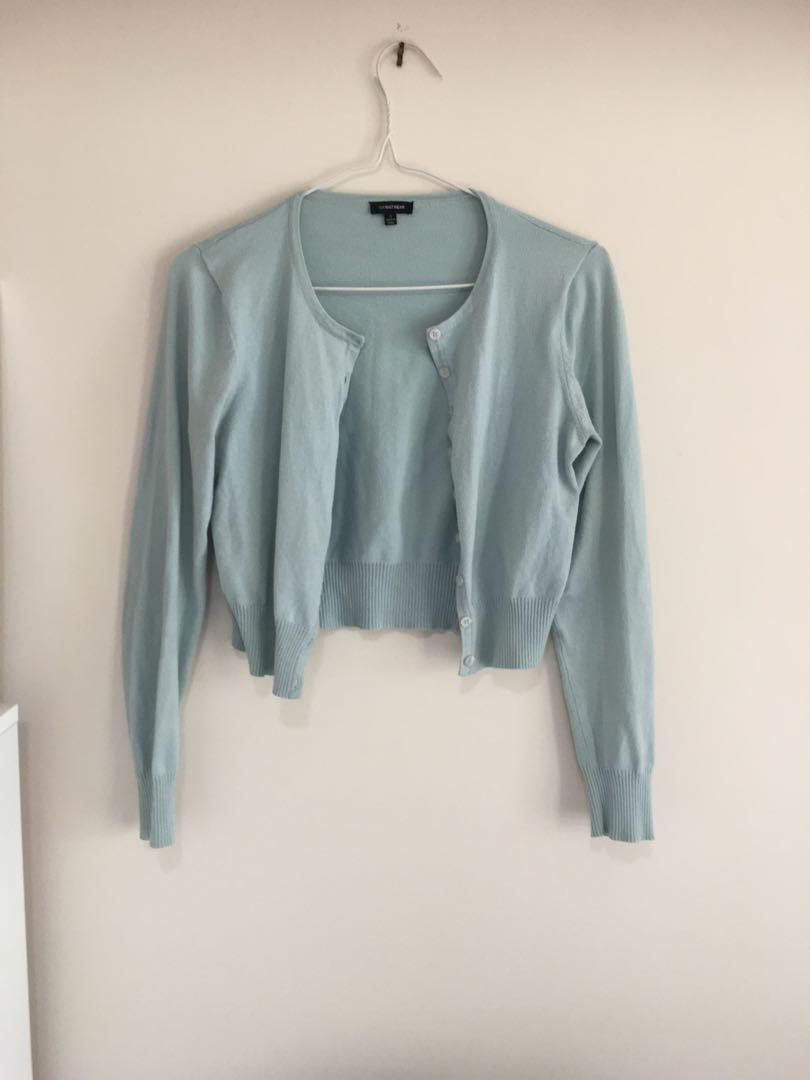 Gorgeous Cue Cardigan - Small - Sage / Muted Mint / Pastel Light Green