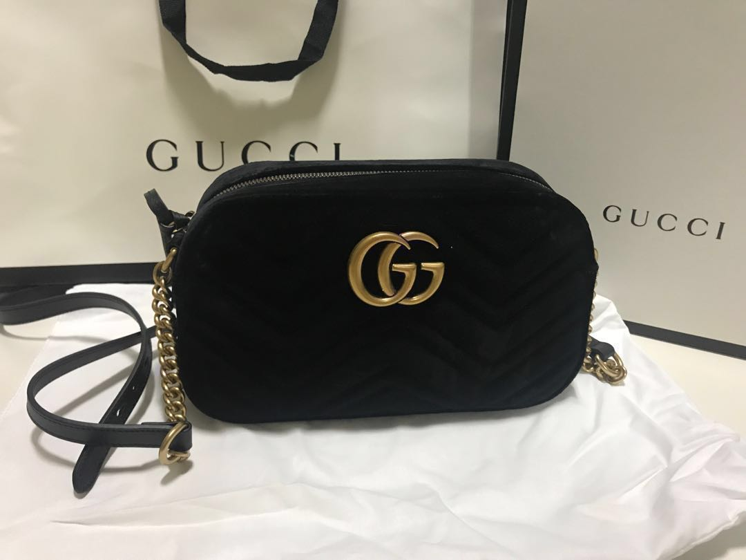 a17be687fb1d Gucci Marmont velvet small shoulder bag, Women's Fashion, Bags & Wallets,  Handbags on Carousell