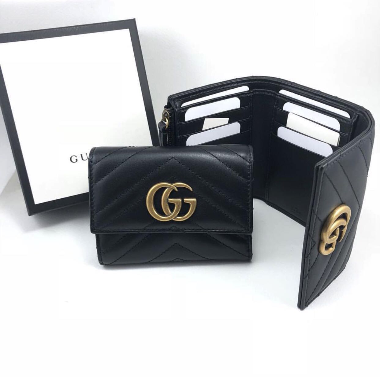 339bc2e2f8cd Gucci trifold wallet [SALE], Luxury, Bags & Wallets, Wallets on Carousell