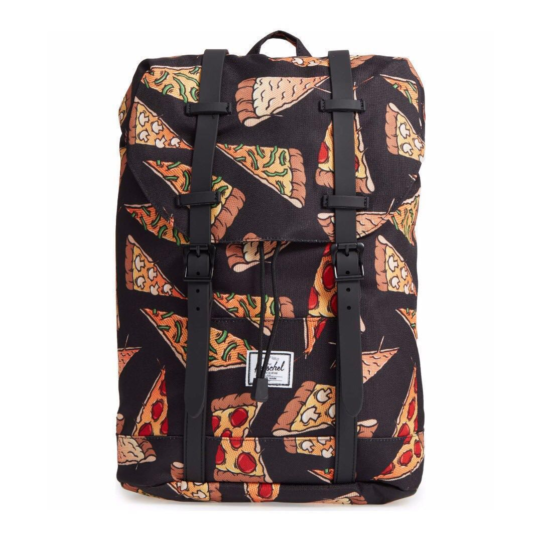 c2a6fa4a3be7 HERSCHEL retreat backpack black pizza