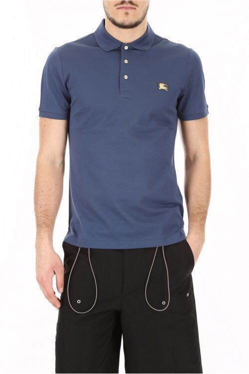 22acff19 🔥HOT🔥💯Authentic BURBERRY GOLD EMBROIDERED LOGO POLO TEE ...