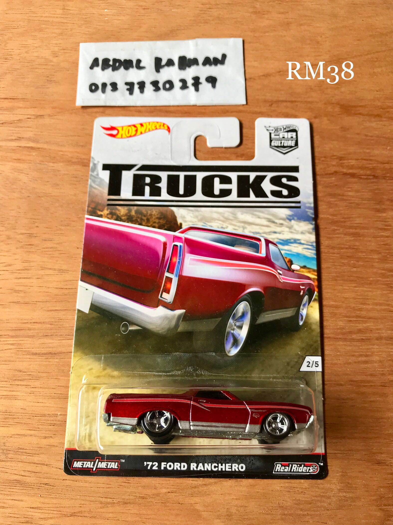 Trucks Red Hot Wheels #2//5 /'72 Ford Ranchero 2016 Car Culture