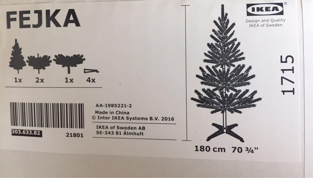 ikea fejka artificial christmas tree 180cm