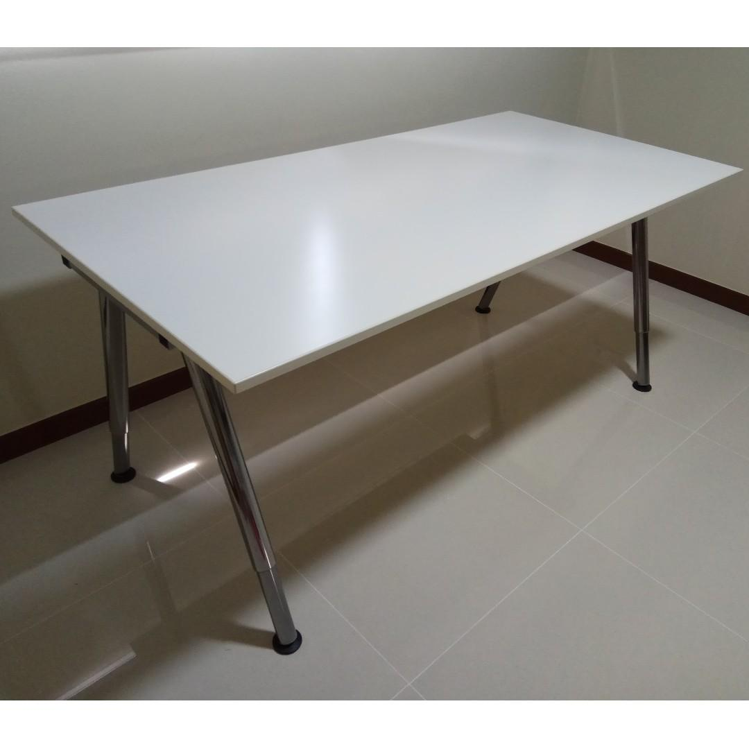 Ikea Galant Desk With Adjustable Legs Height Furniture Tables Chairs On Carousell