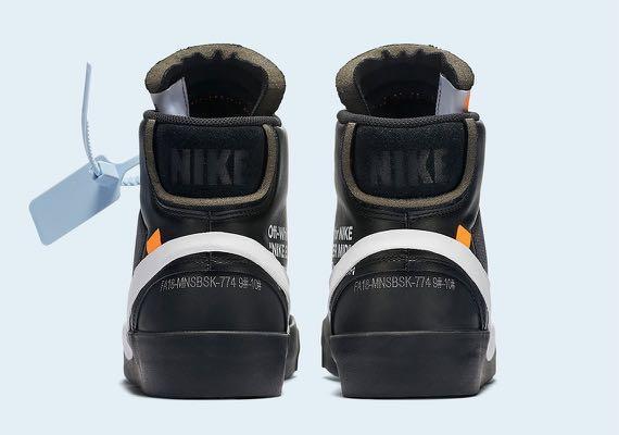 320b3a7f IN STOCK] Off-White Nike Blazer Black, Men's Fashion, Footwear ...