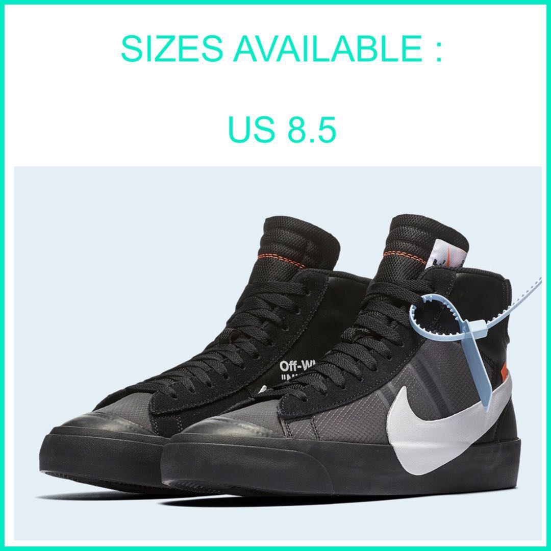 3cd667a7 IN STOCK] Off-White Nike Blazer Black, Men's Fashion, Footwear ...
