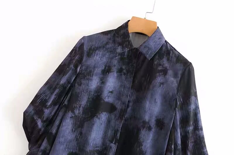 100884ce8ff8b 💃🏼Inspired Zara Tie Dye Flowing Collared Blouse Shirt💃🏼