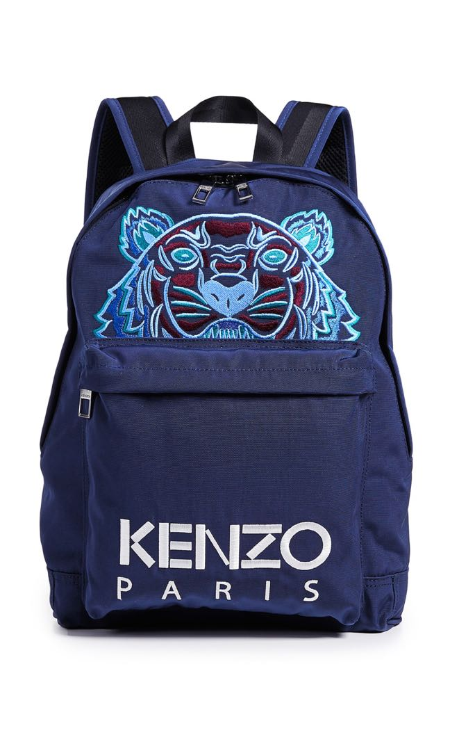 eb6494a9ee Kenzo Navy Blue Tiger Backpack, Men's Fashion, Bags & Wallets ...