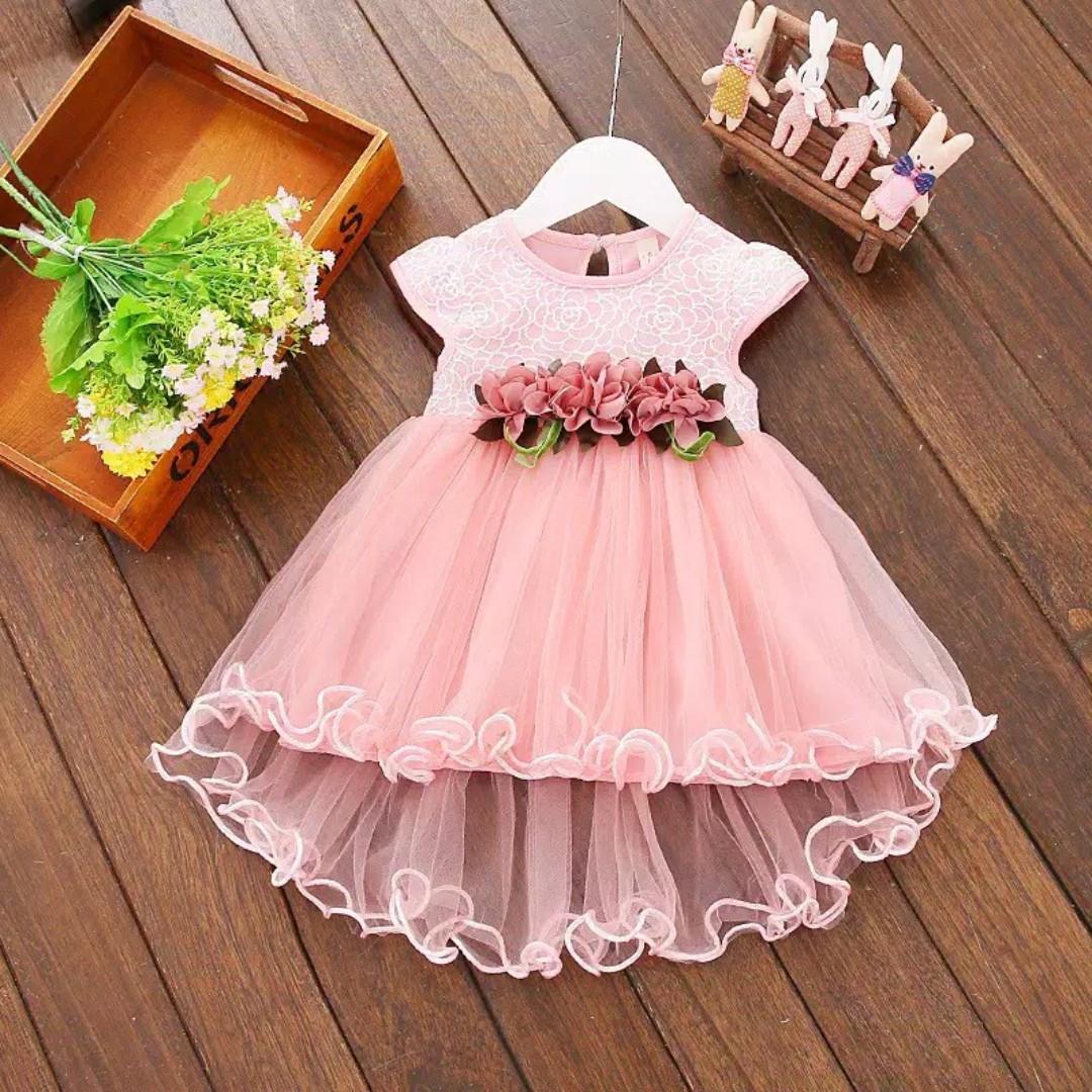 Kiera Dress Dress Pesta Anak Perempuan Import Gaun Pesta Bayi
