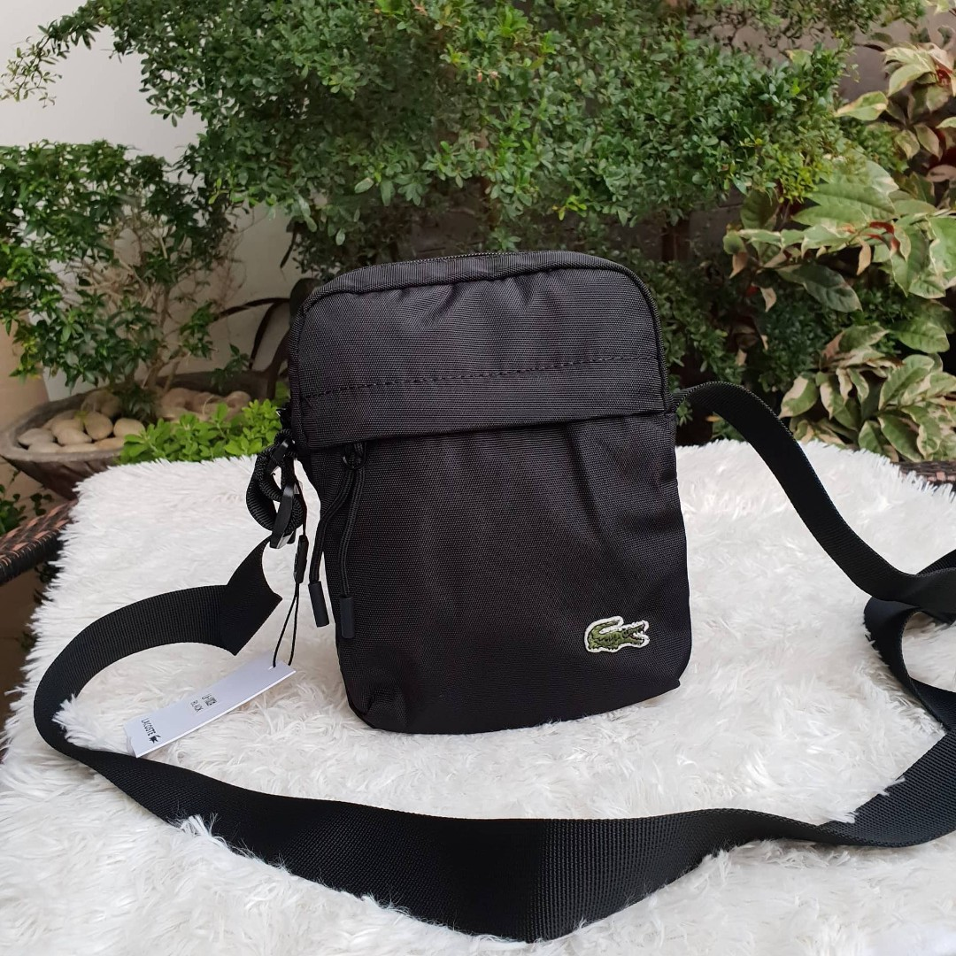 ccc44a892 Lacoste Neocroc Canvas Vertical All Purpose Shoulder Man Bag - Black ...