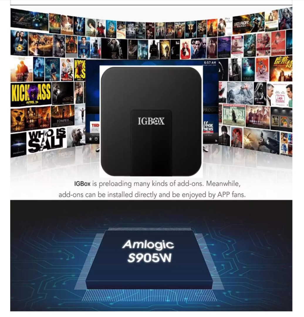 Life time Free One Time Payment IPTV IGTV/IGBox box (IGTV-G2) Android 7 1  Smart TV Box Local warranty