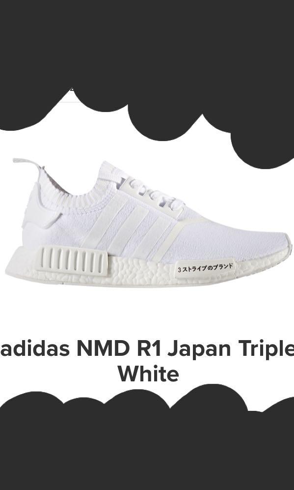 d8ebd88ca LIMITED ED Adidas Triple White Japan NMDs
