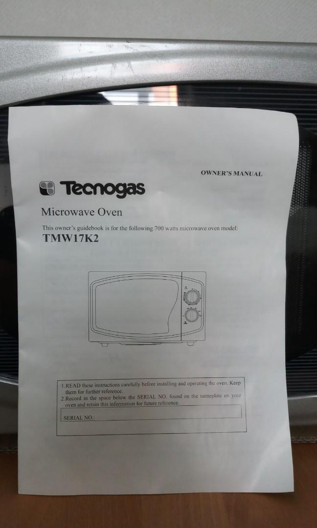 Microwave Oven Technogas TMW17K2