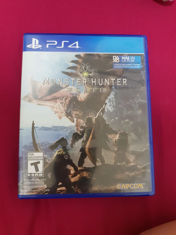 Monster Hunter World MHW PS4 (Region: All), Toys & Games