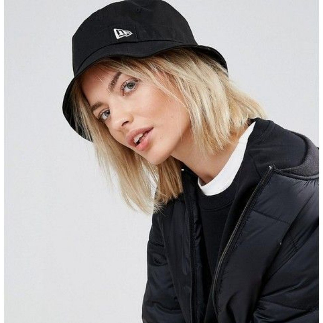 a71467c9 New Era Bucket Hat (Black), Women's Fashion, Accessories, Caps ...