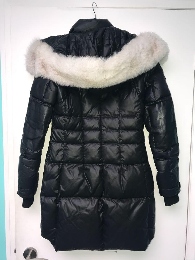 Nicole Benisti jacket with white fox fur size small
